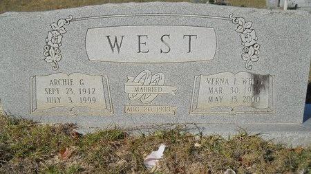 WEST, VERNA L - Webster County, Louisiana   VERNA L WEST - Louisiana Gravestone Photos