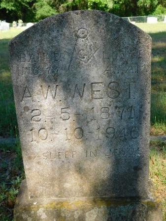 WEST, A W - Webster County, Louisiana   A W WEST - Louisiana Gravestone Photos