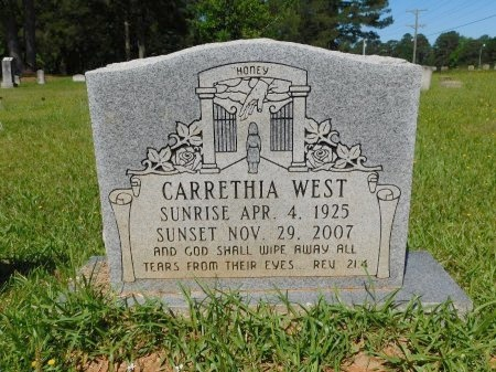 WEST, CARRETHIA - Webster County, Louisiana   CARRETHIA WEST - Louisiana Gravestone Photos