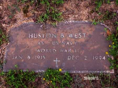 WEST , HUSTON B (VETERAN WWII) - Webster County, Louisiana   HUSTON B (VETERAN WWII) WEST  - Louisiana Gravestone Photos