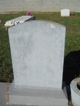 WILLIAMS, ALBERTA - Webster County, Louisiana   ALBERTA WILLIAMS - Louisiana Gravestone Photos