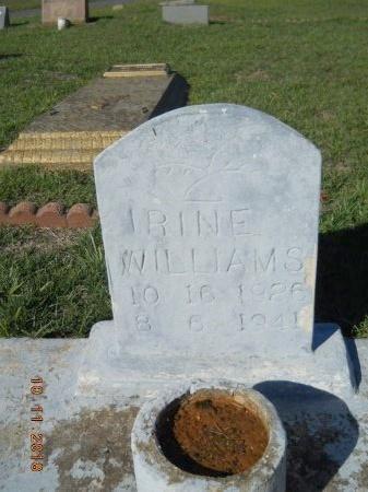 WILLIAMS, IRINE - Webster County, Louisiana   IRINE WILLIAMS - Louisiana Gravestone Photos