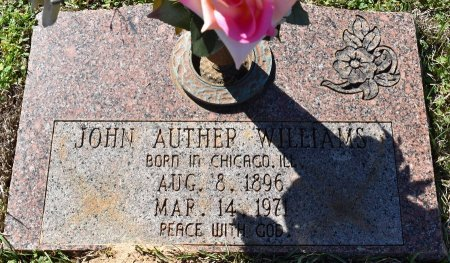 WILLIAMS, JOHN AUTHER - Webster County, Louisiana | JOHN AUTHER WILLIAMS - Louisiana Gravestone Photos