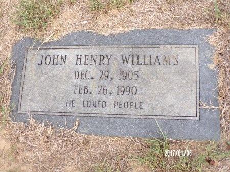 WILLIAMS, JOHN HENRY - Webster County, Louisiana   JOHN HENRY WILLIAMS - Louisiana Gravestone Photos