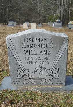 "WILLIAMS, JOSEPHANIE ""RAMONIQUE"" - Webster County, Louisiana   JOSEPHANIE ""RAMONIQUE"" WILLIAMS - Louisiana Gravestone Photos"