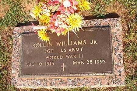 WILLIAMS, ROLLIN, JR  (VETERAN WWII) - Webster County, Louisiana | ROLLIN, JR  (VETERAN WWII) WILLIAMS - Louisiana Gravestone Photos