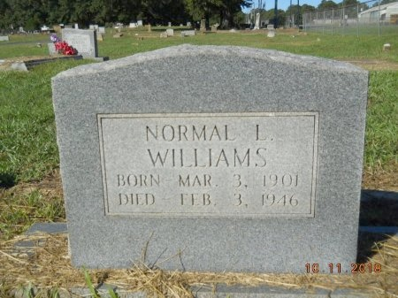 WILLIAMS, NORMAL L - Webster County, Louisiana | NORMAL L WILLIAMS - Louisiana Gravestone Photos