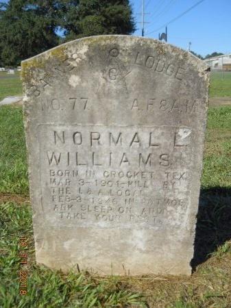WILLIAMS, NORMAN L (ORIGINAL STONE) - Webster County, Louisiana | NORMAN L (ORIGINAL STONE) WILLIAMS - Louisiana Gravestone Photos