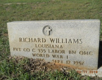 WILLIAMS , RICHARD (VETERAN WWI) - Webster County, Louisiana   RICHARD (VETERAN WWI) WILLIAMS  - Louisiana Gravestone Photos