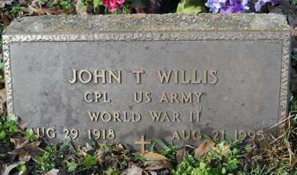 WILLIS, JOHN T (VETERAN WWII) - Webster County, Louisiana | JOHN T (VETERAN WWII) WILLIS - Louisiana Gravestone Photos