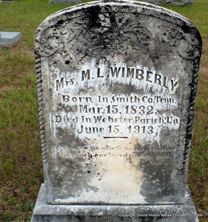 WIMBERLY, MARTHA L - Webster County, Louisiana   MARTHA L WIMBERLY - Louisiana Gravestone Photos