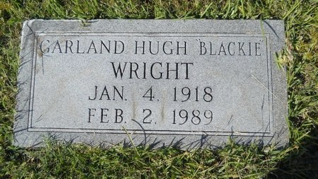 "WRIGHT, GARLAND HUGH ""BLACKIE"" - Webster County, Louisiana | GARLAND HUGH ""BLACKIE"" WRIGHT - Louisiana Gravestone Photos"
