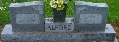 ALFORD, PHYLLIS - West Baton Rouge County, Louisiana | PHYLLIS ALFORD - Louisiana Gravestone Photos