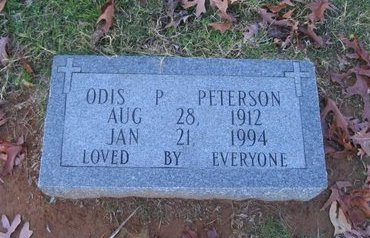 PETERSON, ODIS P - West Carroll County, Louisiana | ODIS P PETERSON - Louisiana Gravestone Photos