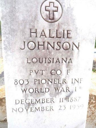 JOHNSON, HALLIE  (VETERAN WWI) - West Feliciana County, Louisiana   HALLIE  (VETERAN WWI) JOHNSON - Louisiana Gravestone Photos