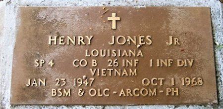 JONES, HENRY, JR  (VETERAN VIET, KIA) - West Feliciana County, Louisiana   HENRY, JR  (VETERAN VIET, KIA) JONES - Louisiana Gravestone Photos