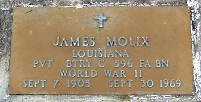 MOLIX, JAMES  (VETERAN WWII) - West Feliciana County, Louisiana | JAMES  (VETERAN WWII) MOLIX - Louisiana Gravestone Photos