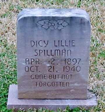 SPILLMAN, DICY PAYOLA - West Feliciana County, Louisiana | DICY PAYOLA SPILLMAN - Louisiana Gravestone Photos