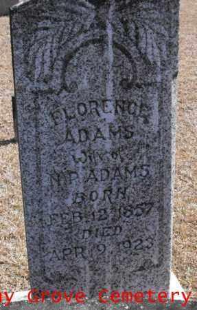ADAMS, FLORENCE - Winn County, Louisiana | FLORENCE ADAMS - Louisiana Gravestone Photos