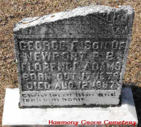 ADAMS, GEORGE F - Winn County, Louisiana | GEORGE F ADAMS - Louisiana Gravestone Photos