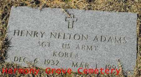 ADAMS, HENRY NELTON (VETERAN KOR) - Winn County, Louisiana   HENRY NELTON (VETERAN KOR) ADAMS - Louisiana Gravestone Photos