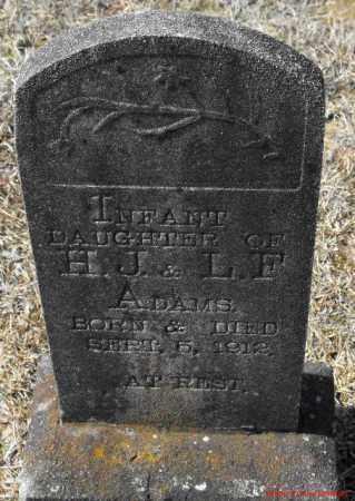 ADAMS, INFANT DAUGHTER - Winn County, Louisiana | INFANT DAUGHTER ADAMS - Louisiana Gravestone Photos