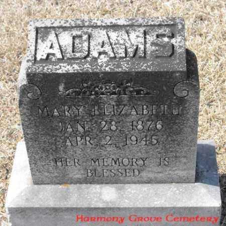 ADAMS, MARY ELIZABETH - Winn County, Louisiana   MARY ELIZABETH ADAMS - Louisiana Gravestone Photos