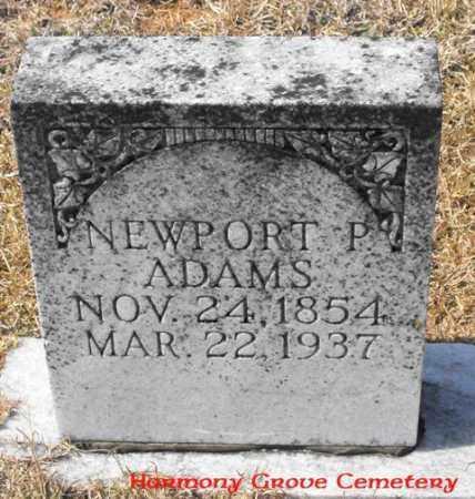 ADAMS, NEWPORT P. - Winn County, Louisiana   NEWPORT P. ADAMS - Louisiana Gravestone Photos