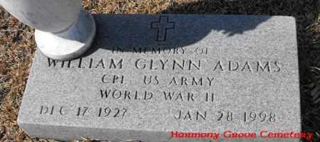 ADAMS, WILLIAM GLYNN (VETERAN WWII) - Winn County, Louisiana | WILLIAM GLYNN (VETERAN WWII) ADAMS - Louisiana Gravestone Photos