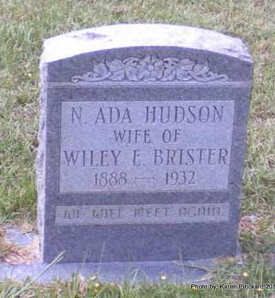 HUDSON BRISTER, N ADA - Winn County, Louisiana | N ADA HUDSON BRISTER - Louisiana Gravestone Photos