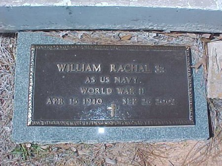 RACHAL  , WILLIAM, SR  (VETERAN WWII) - Winn County, Louisiana   WILLIAM, SR  (VETERAN WWII) RACHAL   - Louisiana Gravestone Photos