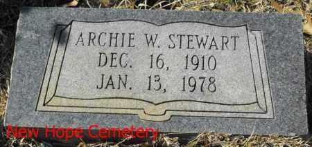 STEWART, ARCHIE W - Winn County, Louisiana | ARCHIE W STEWART - Louisiana Gravestone Photos