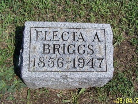 BRIGGS, ELECTA A. - Barry County, Michigan | ELECTA A. BRIGGS - Michigan Gravestone Photos