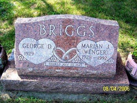 BRIGGS, MARIAN - Barry County, Michigan | MARIAN BRIGGS - Michigan Gravestone Photos