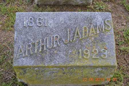 ADAMS, ARTHUR J. - Branch County, Michigan   ARTHUR J. ADAMS - Michigan Gravestone Photos