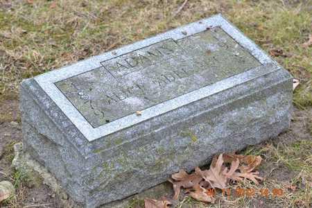 ADAMS, ALICE ADELAIDE - Branch County, Michigan | ALICE ADELAIDE ADAMS - Michigan Gravestone Photos