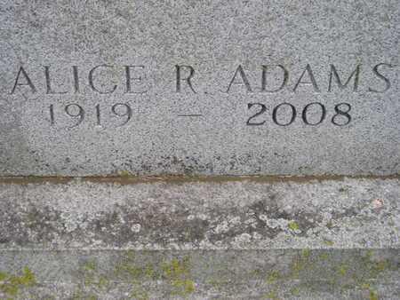 ADAMS, ALICE R. - Branch County, Michigan   ALICE R. ADAMS - Michigan Gravestone Photos