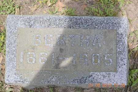 ADAMS, BERTHA - Branch County, Michigan | BERTHA ADAMS - Michigan Gravestone Photos