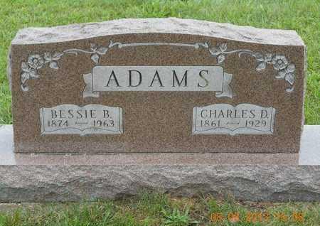 ADAMS, CHARLES D. - Branch County, Michigan   CHARLES D. ADAMS - Michigan Gravestone Photos