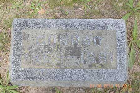 ADAMS, CONRAD - Branch County, Michigan | CONRAD ADAMS - Michigan Gravestone Photos