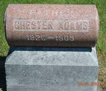 ADAMS, CHESTER - Branch County, Michigan | CHESTER ADAMS - Michigan Gravestone Photos