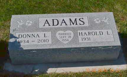 ADAMS, HAROLD L. - Branch County, Michigan | HAROLD L. ADAMS - Michigan Gravestone Photos