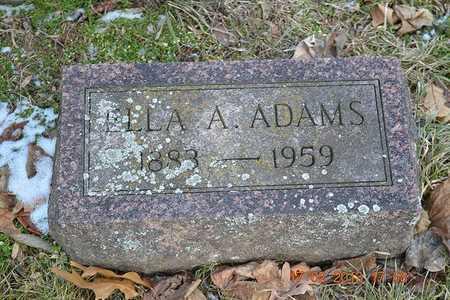 ADAMS, ELLA A. - Branch County, Michigan   ELLA A. ADAMS - Michigan Gravestone Photos