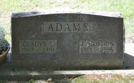 ADAMS, F. GORDON - Branch County, Michigan | F. GORDON ADAMS - Michigan Gravestone Photos