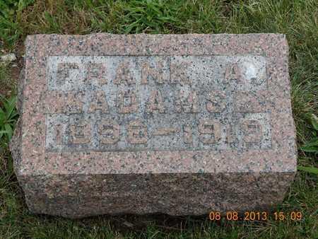ADAMS, FRANK A. - Branch County, Michigan | FRANK A. ADAMS - Michigan Gravestone Photos
