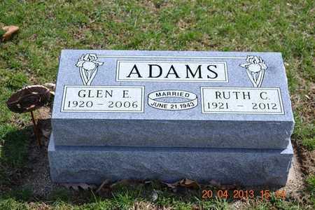 ADAMS, GLEN E. - Branch County, Michigan | GLEN E. ADAMS - Michigan Gravestone Photos