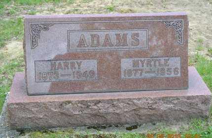 ADAMS, HARRY - Branch County, Michigan | HARRY ADAMS - Michigan Gravestone Photos
