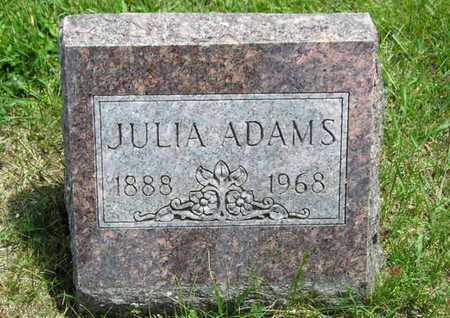 ADAMS, JULIA - Branch County, Michigan | JULIA ADAMS - Michigan Gravestone Photos