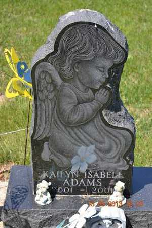 ADAMS, KAILYN ISABELL(CLOSEUP) - Branch County, Michigan | KAILYN ISABELL(CLOSEUP) ADAMS - Michigan Gravestone Photos