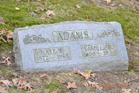 ADAMS, SAMUEL R. - Branch County, Michigan | SAMUEL R. ADAMS - Michigan Gravestone Photos